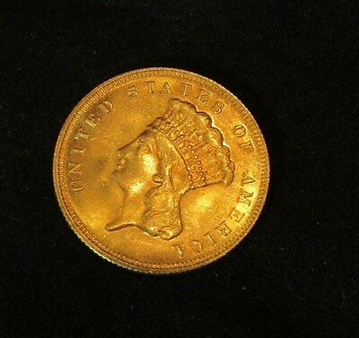1878  $3 Indian Princess, Gold coin  in   Almost Uncirculated condition