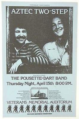 original AZTEC TWO-STEP Providence, RI concert poster 1976 NM condition