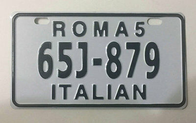 ITALY Motorcycle license plate from 90's 879