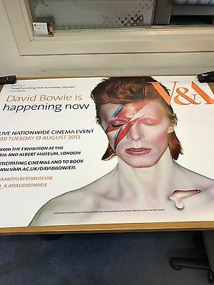 David Bowie Alladin Sane Genuine V & A Quad Movie poster