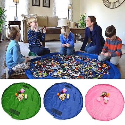 "Toy Storage Bag TIDY Organizer Rug For Legos Portable Kid Play Mat 59"" 39'' 18''"