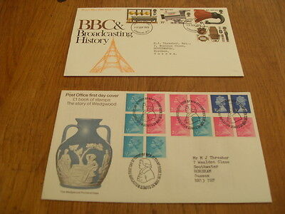 England  F-D Covers- Wedgwood Story Of 1972 / Bbc History 1972