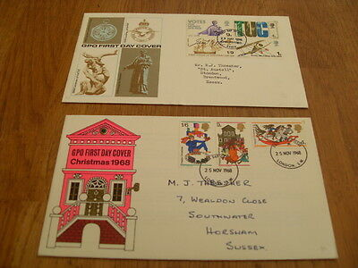 England  F-D Covers-Gpo Xmas Cover 1968 / Gpo Cover 1968