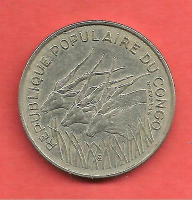 100 Francs , CONGO , Nickel , 1971 , N° KM # 1