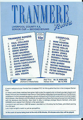 Tranmere Rovers v Liverpool County F A Senior Cup