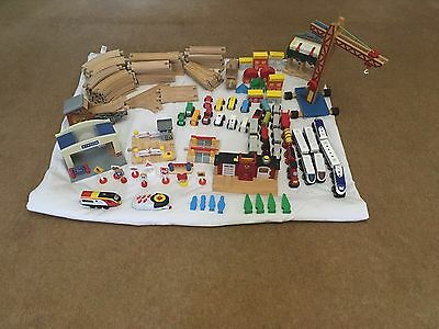 Large Job Lot Brio & Brio Compatible Wooden Train Track Set