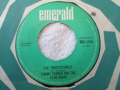 """Tommy Thomas And The Club Sound The Professsionals / Belfast Belfast Ire 7"""" 1971"""