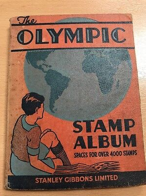 Old stamps book - The Olympic Stamp Album
