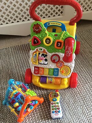 V Tech Baby Walker And Two Toys