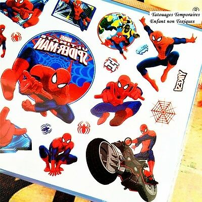 ❤️ Neues Marvel Spiderman 15 Kinder Tattoos Temporary Wasserdicht