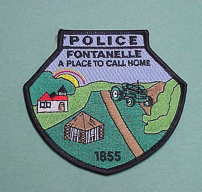 """Fontanelle  Iowa 1855 """" A Place To Call Home """"   Police Patch   Free Shipping!!!"""