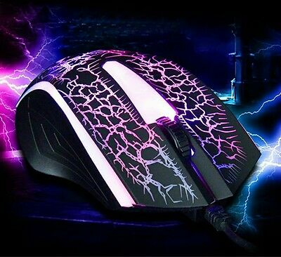 New Mouse 2400 DPI USB Wired Optical Gaming Game Mouse
