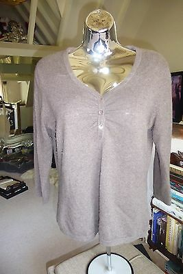 Pure Collection 100% cashmere jumper UK 12 mushroom light brown