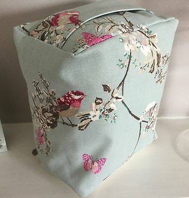 Blue & Pink Butterfly Birds & Blossom Print Fabric  Door Stop .. Unfilled