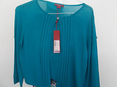 New with Tag  MONSOON Teal Cardigan/Shrug  14