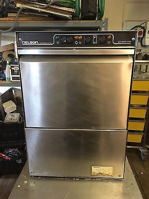 Commercial Industrial Glass Washer Nelson SC40AWS dp BL  400mmx400mm Basket
