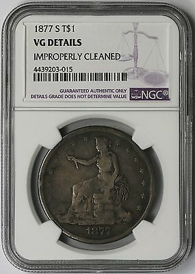 1877-S Trade Dollar Silver $1 VG Details NGC