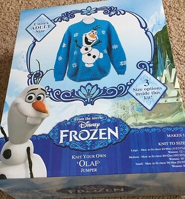 Frozen Olaf Sweater Knitting Kit  - Adults Sizes