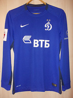 Match worn shirt FC DYNAMO Moscow RUSSIA 2015 - 2016 NIKE jersey camisa L/S