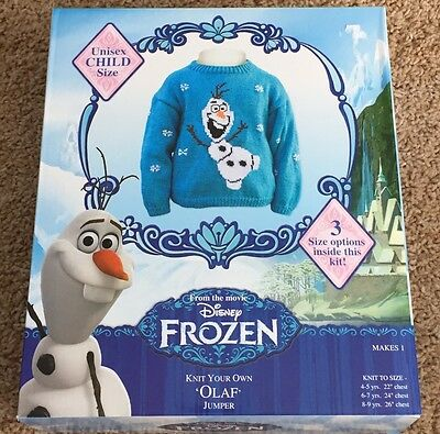 Frozen Olaf Sweater Knitting Kit  - Childs Size