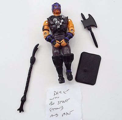 Vintage GI Joe - Action force figure Dice with accessories