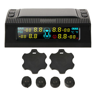 Car Wireless TPMS Tire Tyre Pressure Monitoring System+4 External Sensors MA1195