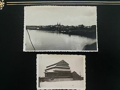 2 original privat photos Lithuania Synagogue Jurbarkas ~1924 Extra Rare!!!