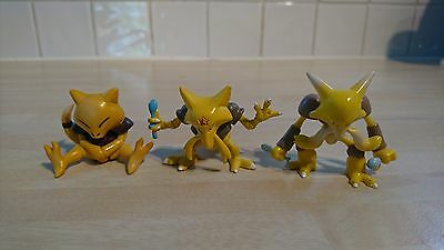 Tomy pokemon figures abra kadabra alakazam genuine great condition