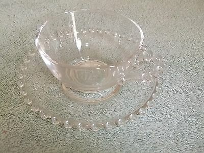 Imperial Glass Candlewick Cup and Saucer