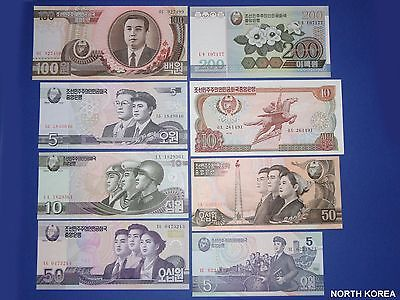 Lot of 15 Different Banknotes From North Kore