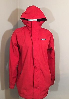 Patagonia Kids Size XL Red Hooded Mesh Lined Classic Jacket w/Double Closure