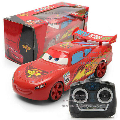 """Cars 3 Cars 2 Lightning McQueen 95 Cars 9"""" RC Car 4CH Remote Radio Control TOY"""