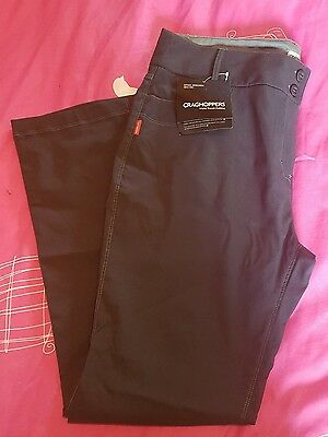 ladies craghoppers navy stretch trousers Nosilife size 18reg