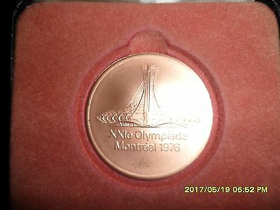Official Athlete Olympic Participation Medal Montreal 1976 in original case
