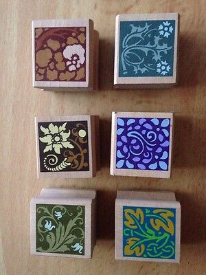 Set Of Wooden Stamps X 6 Brand New