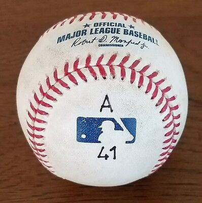 Albert Pujols Game Used 600th Home Run Marked (A 41) Baseball MLB HOLO L@@K