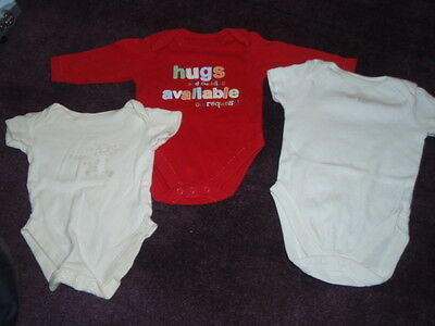 Baby boys Vests x 3 assorted small sizes