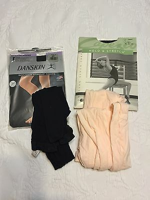 Adult New Danskin And Capezio Tights LOT OF 4 Size Lg/XL