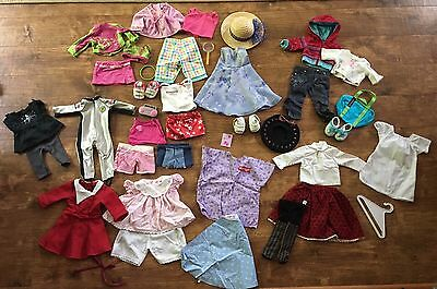 Huge lot of authentic original American girl doll clothes, shoes, accessories