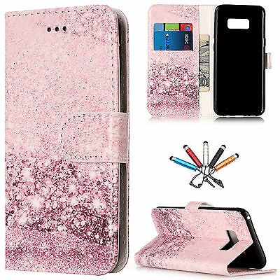 Marble Flip Magnetic Leather Wallet Stand Cards Case Cover For Samsung S7 Edge