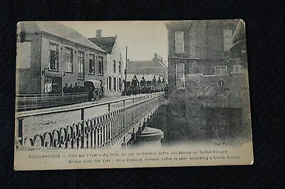 vintage postcard, Rousbrugge, Bridge upon the Yser. General Joffre.
