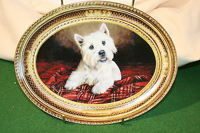 "Franklin mint Westie limited edition collection plate ""Master of the Tartan"""