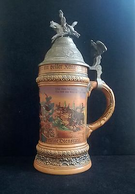 Vintage Military German Beer Stein