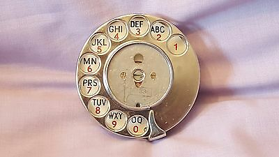 Vintage GPO BT Metal Rotary Dial Part  - Telephone Phone