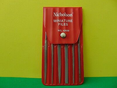 Nicholson Miniature Files 42030 Hobby Tool Set Great Condition