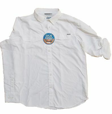 b2e049258e3 NEW Columbia Men's Kestrel Trail Long Sleeve Shirt Omni Shade WHITE All  Sizes