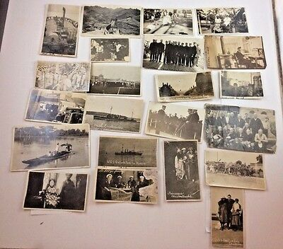 Lot of 22 Original WWI SAILOR'S Service Constantinople India Russia Ceylon China