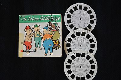 Vintage viewmaster reels from Gaf. The3little pigs +, pack B421-E