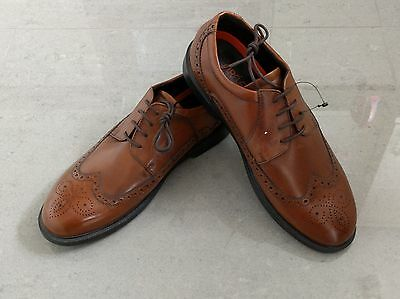Mens Brand New Marks & Spencers Airflex Brown Leather Shoes Size 9