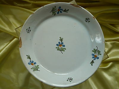 Belle Assiette Faience De Nevers  18 Eme Siecle Bon Etat
